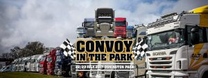 HGV, truck, trucker, driver, class 1, agency, logistics, convoy in the park